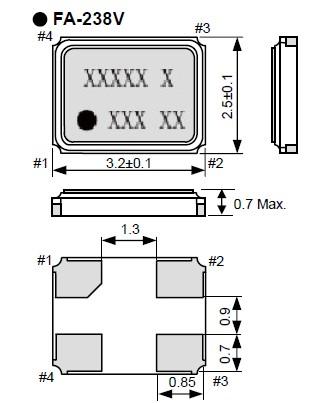 fa-238v无源晶振,进口爱普生晶振,石英晶振