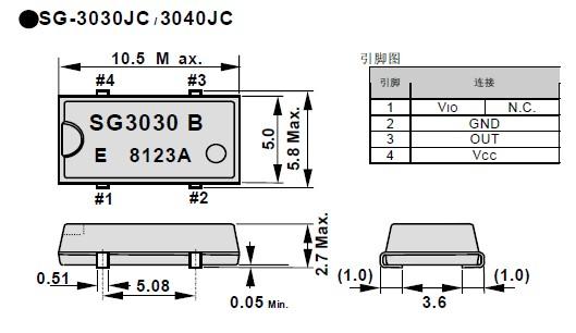 石英晶振sg-3040jc,爱普生地抖动晶振,石英晶体振荡器