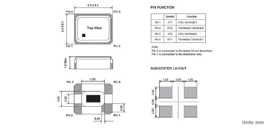 振荡电路中负载电容的不同,可能导致 石英晶体振荡频率与设计